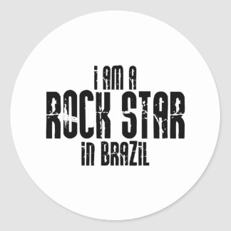 Rockstar in Brasilien Runder Sticker