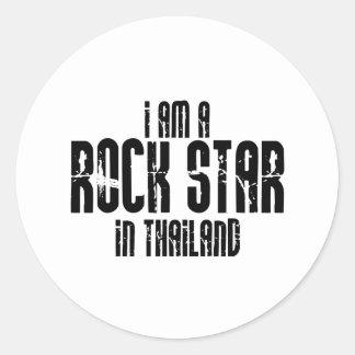 Rockstar in Thailand Runder Sticker