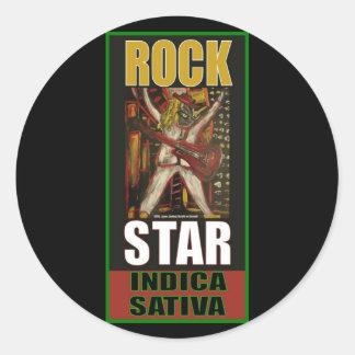 ROCKSTAR-INDICA SATIVA RUNDER AUFKLEBER