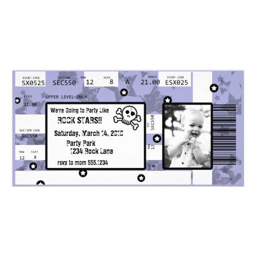 Rockstar-Karten-Einladung oder danken Ihnen zu kar Fotokarten