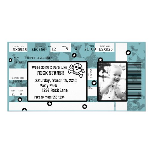 Rockstar-Karten-Einladung oder danken Ihnen zu kar Individuelle Photo Karten