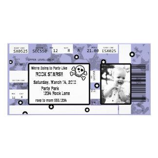 Rockstar-Karten-Einladung oder danken Ihnen zu Photokartenvorlagen