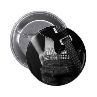 Rockstar Knopf Runder Button 5,7 Cm