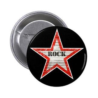 Rockstar Knopf (schwarzer Hintergrund) Button