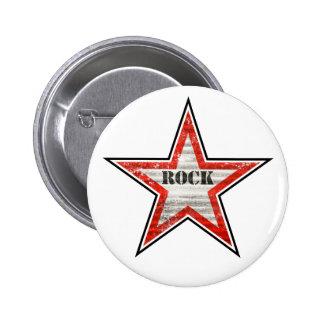 Rockstar Knopf (weißer Hintergrund) Button
