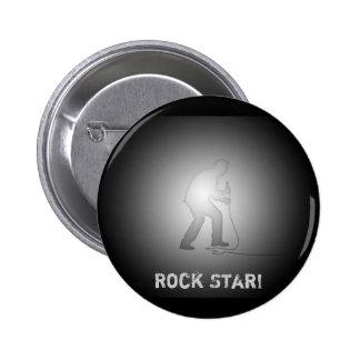 Rockstar! - Kollektor-Knopf Runder Button 5,7 Cm