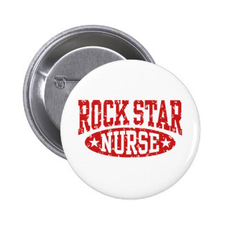 Rockstar-Krankenschwester Runder Button 5,7 Cm