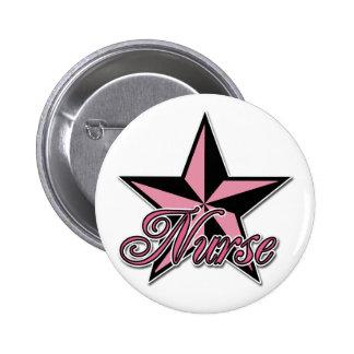 Rockstar Krankenschwester Runder Button 5,7 Cm