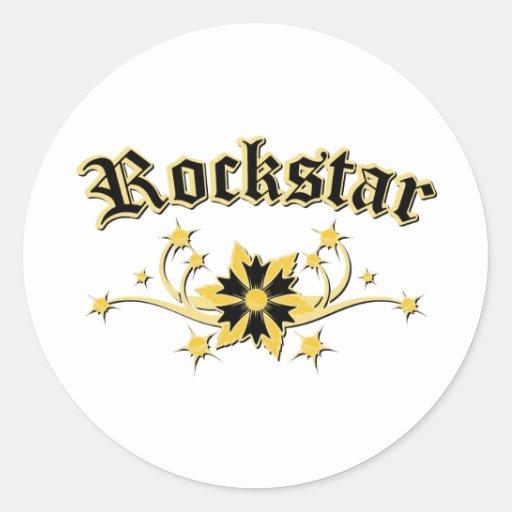 Rockstar Mode-Entwurf Runde Sticker