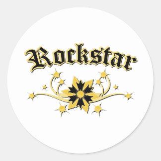 Rockstar Mode-Entwurf Runder Aufkleber