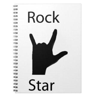 Rockstar Spiral Notizbuch