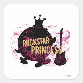 Rockstar Prinzessin Quadrat-Aufkleber