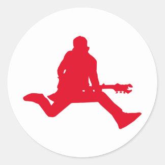 Rockstar-Rot Runder Aufkleber