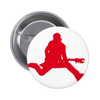 Rockstar-Rot Runder Button 5,7 Cm