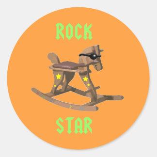 Rockstar! Runder Aufkleber