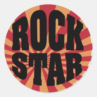Rockstar Runder Aufkleber