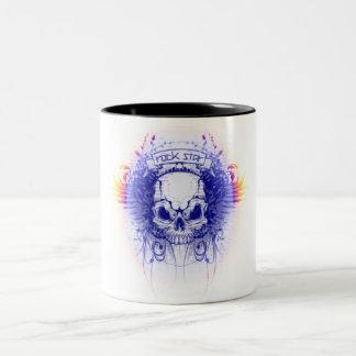 Rockstar Schädel - Zwei-Ton Tasse