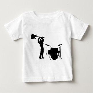 Rockstar Trommel-Gitarre Smasher Baby T-shirt