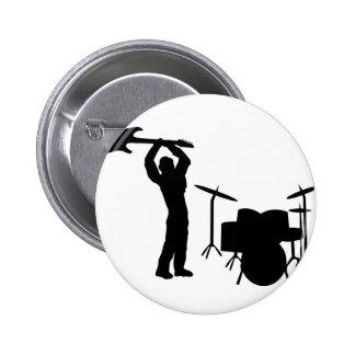 Rockstar Trommel-Gitarre Smasher Runder Button 5,7 Cm