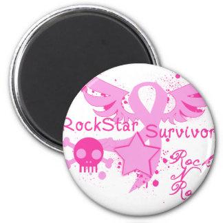 Rockstar Überlebender Runder Magnet 5,7 Cm