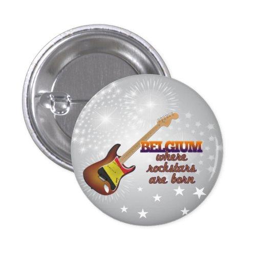 Rockstars sind in Belgien geboren Anstecknadelbutton