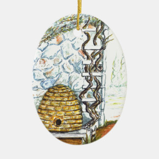 rockwall Ernte Keramik Ornament