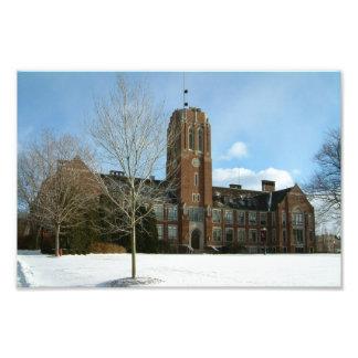 Rockwell im Winter an der Waldungs-Stadt-Uni Fotodruck