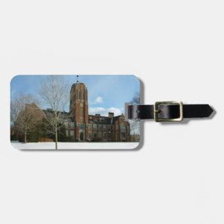 Rockwell im Winter an der Waldungs-Stadt-Uni Gepäckanhänger