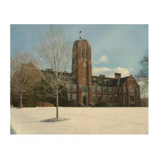 Rockwell im Winter an der Waldungs-Stadt-Uni Holzdruck