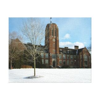 Rockwell im Winter an der Waldungs-Stadt-Uni Leinwanddruck