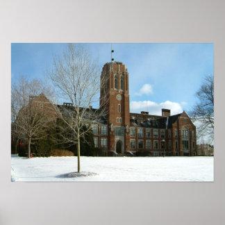 Rockwell im Winter an der Waldungs-Stadt-Uni Poster