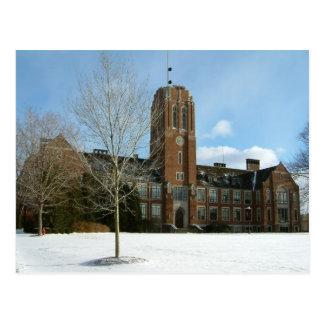 Rockwell im Winter an der Waldungs-Stadt-Uni Postkarte