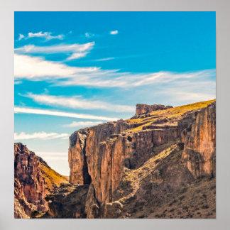 Rocky Mountainspatagonia-Landschaft - Santa Cruz - Poster