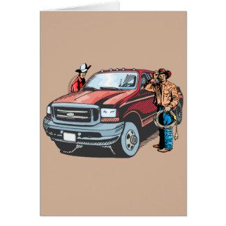 Rodeo-Cowboy-Gruß-Karte Karte