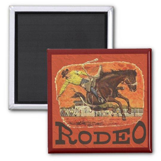 Rodeo-Cowboy Quadratischer Magnet