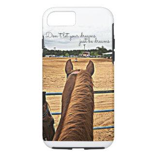 Rodeo-Cowgirl-Fass-Rennläufer starker iPhone 7 iPhone 8/7 Hülle