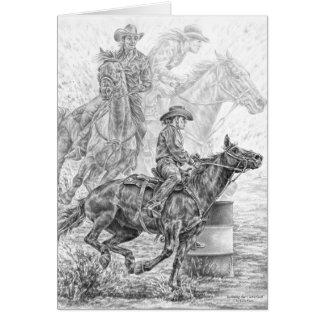 Rodeo-Fass-Rennen, das Kunst durch Kelli Schwan Karte