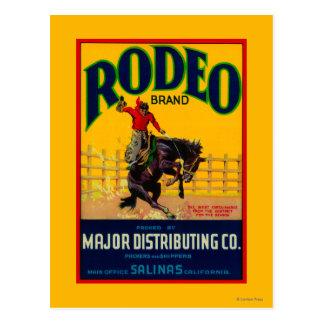 Rodeo GemüseLabelSalinas, CA Postkarte