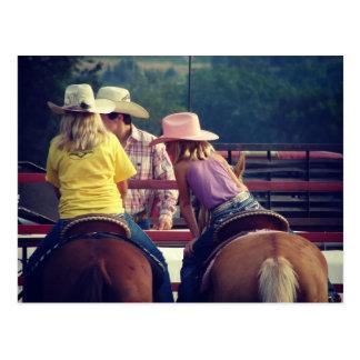 Rodeo-Gespräch Postkarte