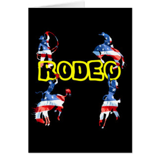 Rodeo ist Amerika Karte