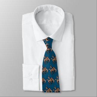 Rodeocowboy und sträubende PferdeKrawatte Bedruckte Krawatte