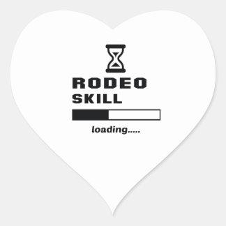 Rodeofähigkeit Laden ...... Herz Sticker