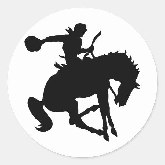 Rodeoreiter rodeo runder aufkleber