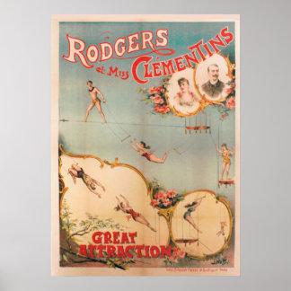 Rodgers und Fräulein Clementins, große Poster