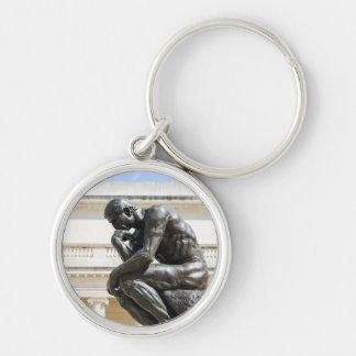 Rodin Denker-Statue Schlüsselanhänger