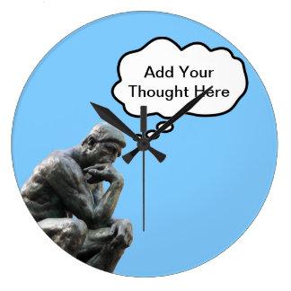 Rodins Denker - addieren Sie Ihren Große Wanduhr