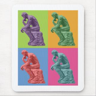 Rodins Denker - Pop-Kunst Mauspad