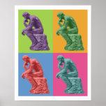 Rodins Denker - Pop-Kunst Plakat