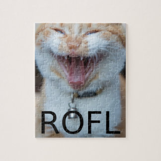 ROFL lachende Miezekatze-Katze Puzzle
