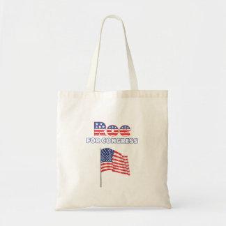Rogen für Kongress-patriotische amerikanische Flag Budget Stoffbeutel